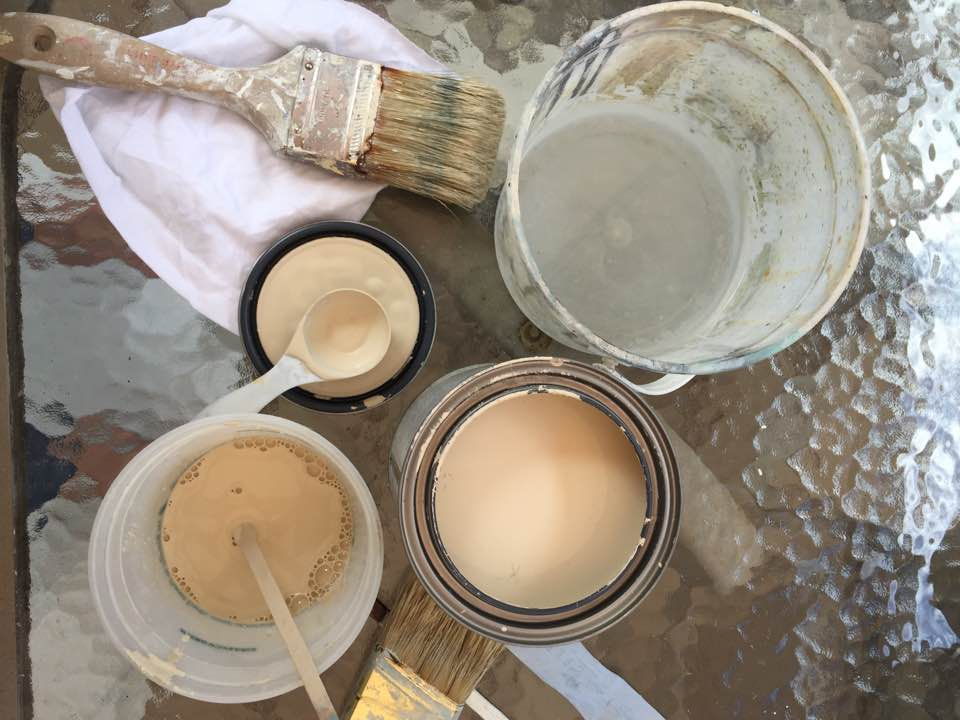 Dilute Chalk Paint with water to create a paint wash.