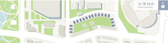 Vị trí các lô biệt thự trong tổng thể The manor central park