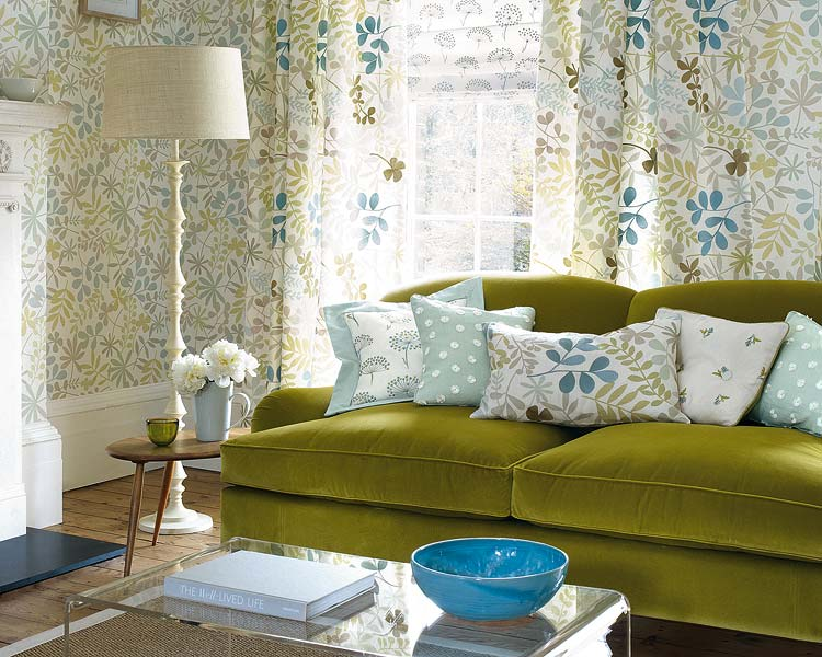 Mix and chic eclectic chic living rooms - Living room curtains with matching pillows ...