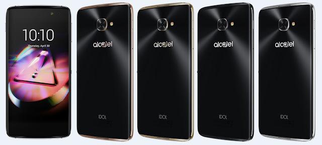 Alcatel Idol 4s Dark Grey, Metal Silver, Gold and Rose Gold