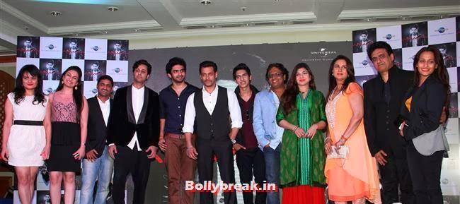 Amal Malik, Salman Khan, Alka Yagnik, Poonam Dhillon and Armaan Malik, Anu Malik's Nephew 'Armaan Malik' Album Launch