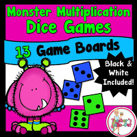 Monster Multiplication Dice Game