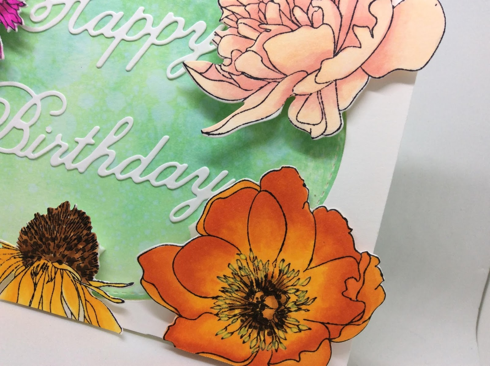 Bizzy Becs Store Blog Flower Birthday Card