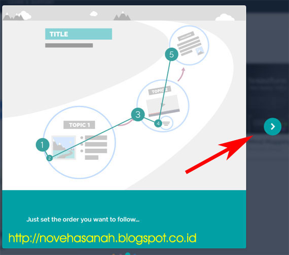 untuk langkah berikutnya dalam Tutorial Prezi (Cara Membuat Presentasi dengan Prezi): SERI 1 - Sign Up (Mendaftar) adalah dengan mengklik tombol >