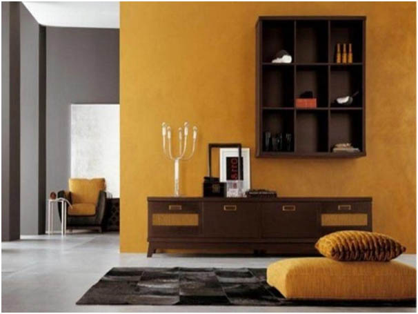 Pemilihan Warna Cat Seperti Kuning Atau Orange Merupakan Pilihan Yang Tepat Untuk Ruang Tamu Dengan Luas Tidak Terlalu Besar