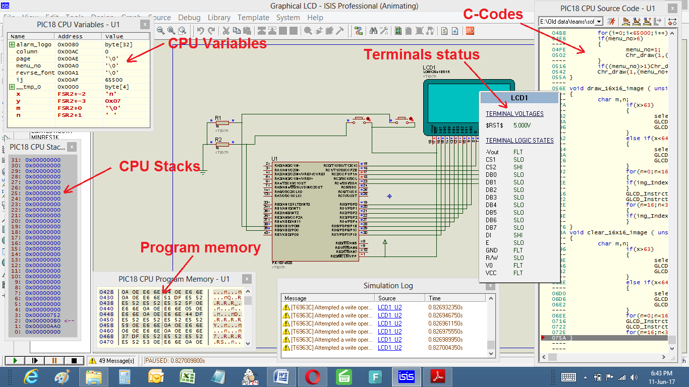 simulate c codes with circuit in proteus debug your complete rh embeddedooo blogspot com  circuit diagram colour codes