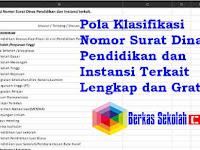 Pola Klasifikasi Nomor Surat Dinas Pendidikan dan Instansi Terkait Lengkap dan Gratiss