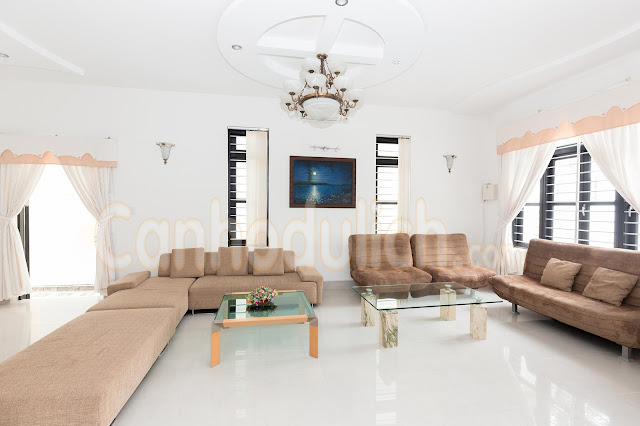Không gian sinh hoạt rộng lớn tại các villa cho thuê ở Vũng Tàu