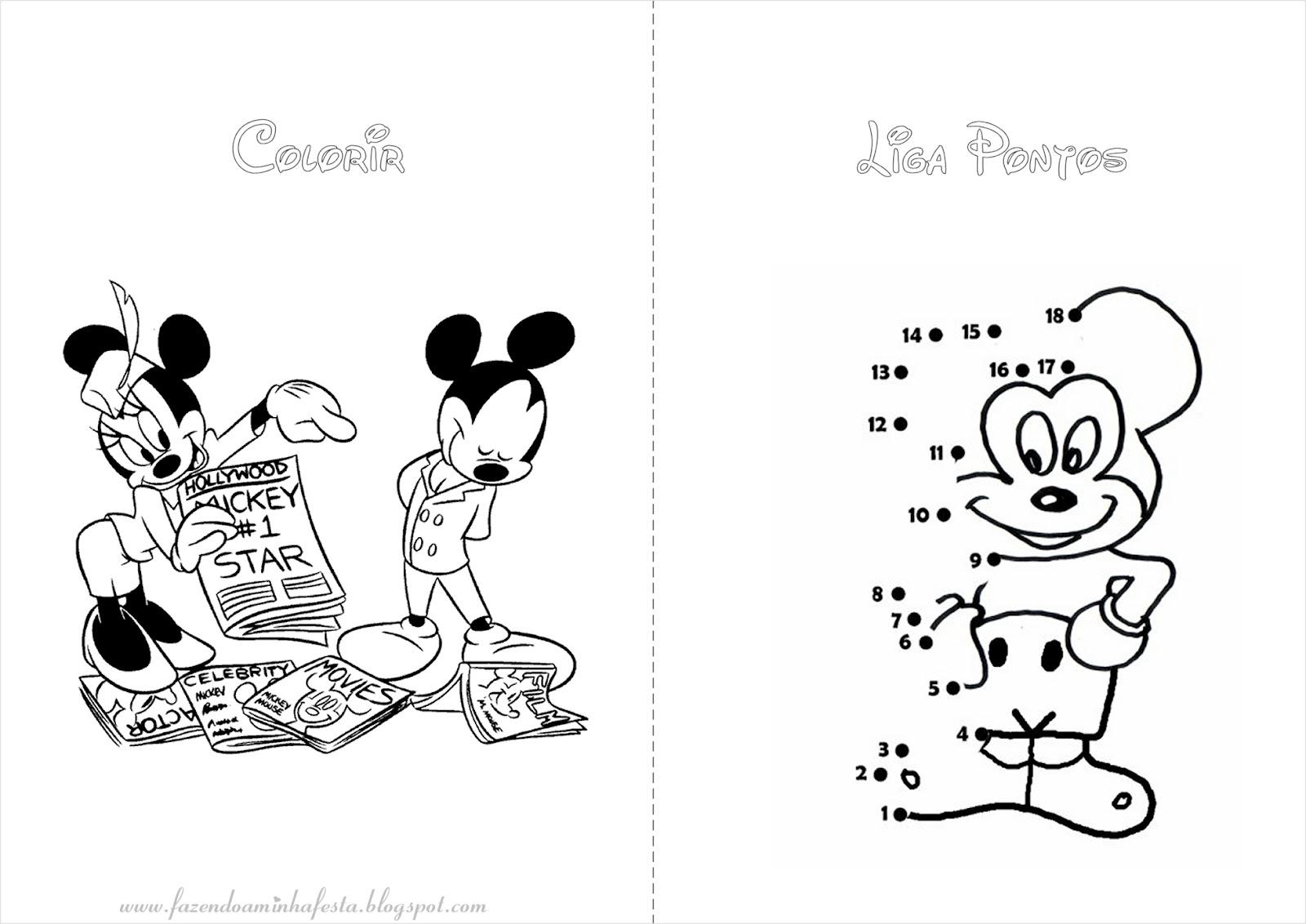 Fazendo A Minha Festa Para Colorir Mickey E Minnie Livrinho De