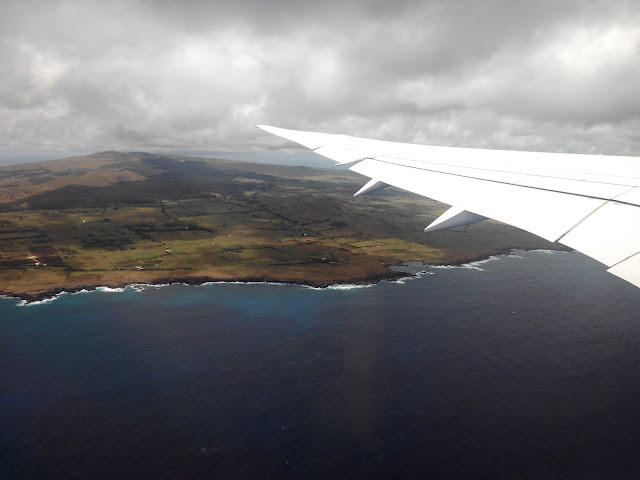 Isla de Pascua desde el aire