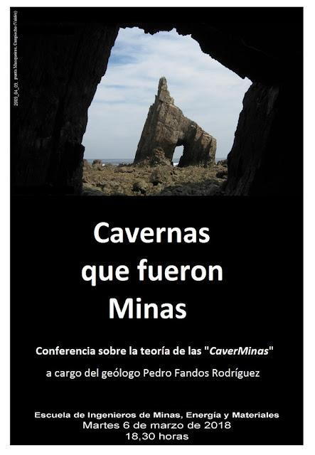 Conferencia Pedro Fandos en Escuela de Minas sobre Caverminas