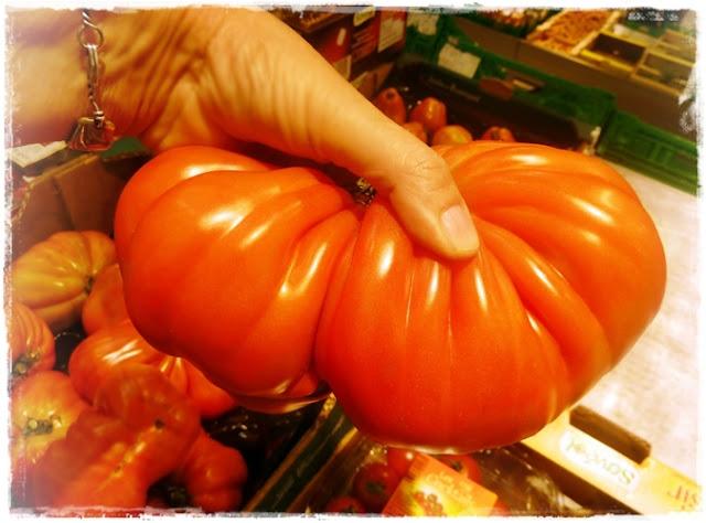 huge heirloom tomato