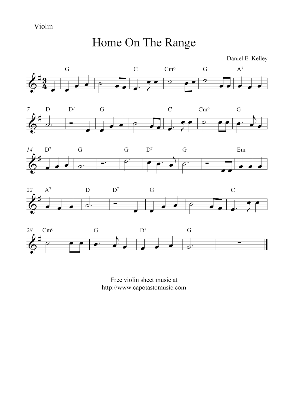 It's just an image of Gorgeous Printable Violin Sheet Music
