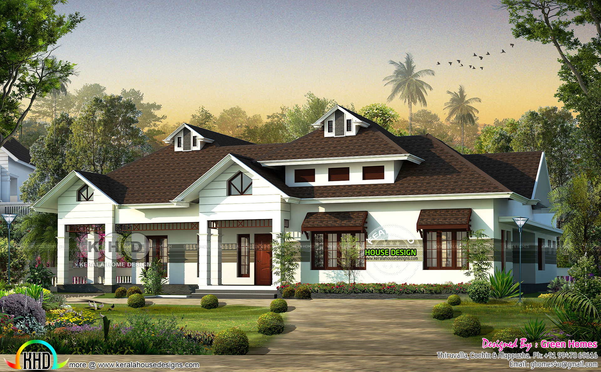 Square Feet Details. Total Area : 3100 Sq.Ft. No. Of Bedrooms : 3. Design  Style : Sloping Roof
