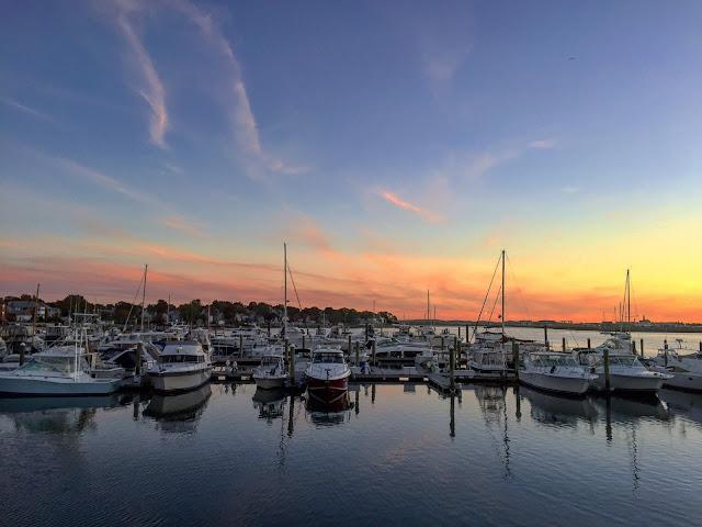 Sailboats in Boston Bay