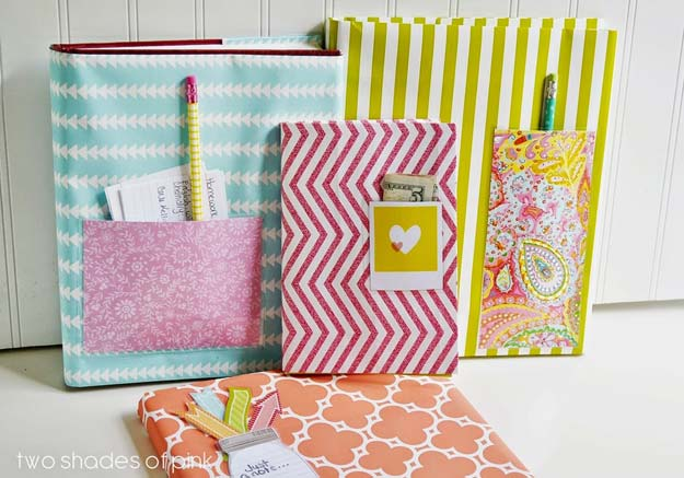 Book Cover Craft Room ~ Diy crafts using wrapping paper that are just amazing