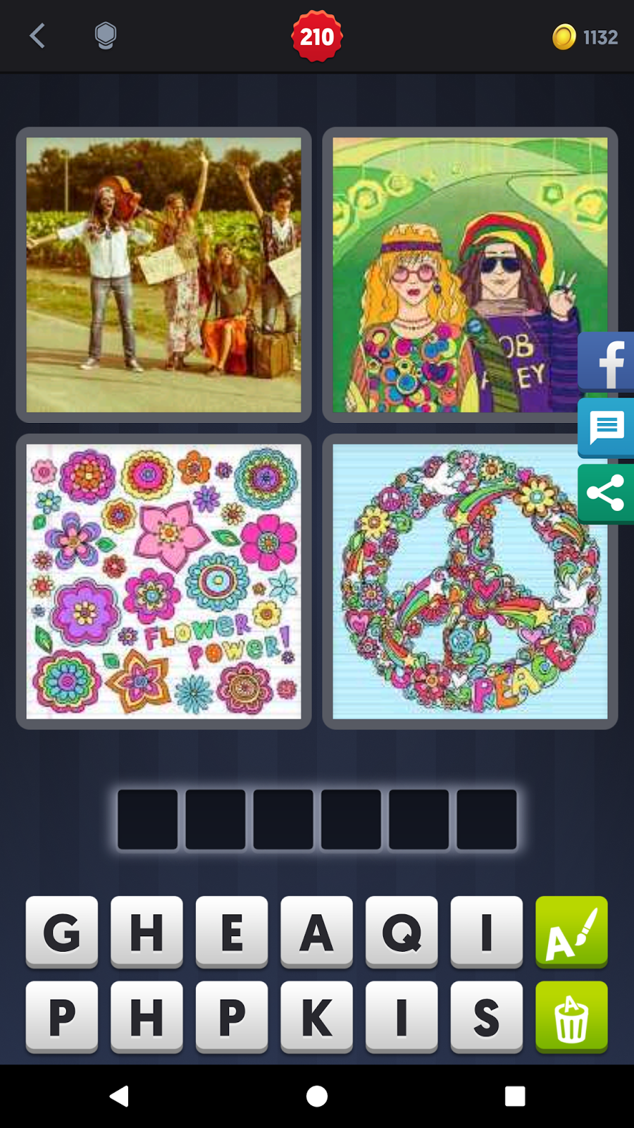 4 Pics 1 Word Answers Solutions Level 210 Hippie