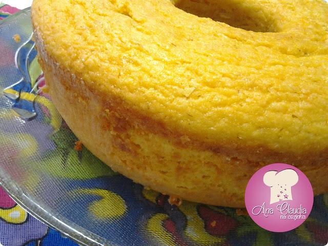 bolo com reaproveitamento de milho