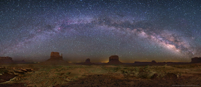 La Voie Lactée au-dessus de Monument Walley