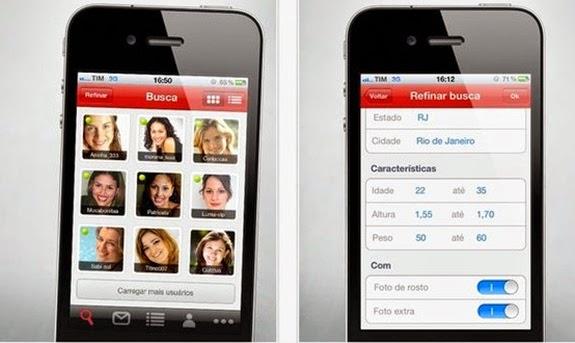 f955e5514b4dd Aplicativo do conhecido site de relacionamentos também tem sua versão  mobile com funcionalidades como carregar fotos
