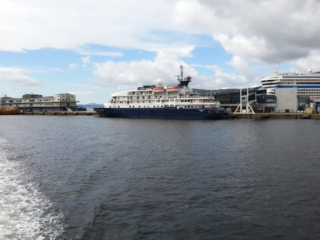 Cruise ship Hebridean Sky in Bergen, Norway; Fjords cruise: Polar Latitudes