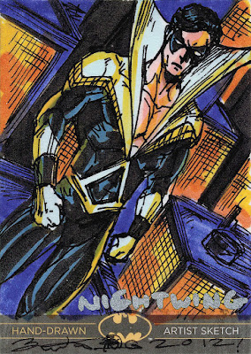 Nightwing sketch card by Brian Kong.
