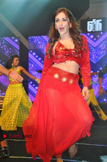 Telugu Actress Angela Krislinzki Spicy Dance Performance in Red Dress at Rogue Audio Launch 13 March 2017  0015.jpg