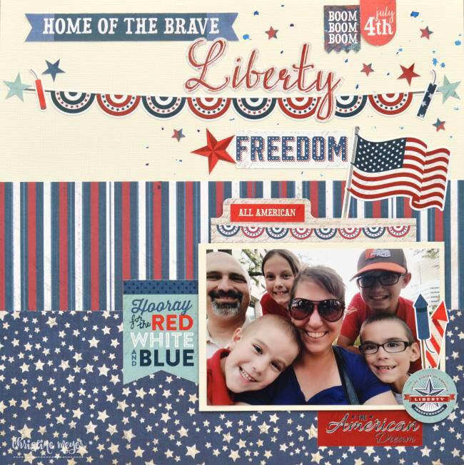 4th of July Scrapbook Layout Ideas