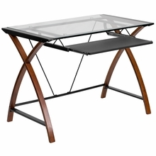 Glass Computer Desk For An Apartment