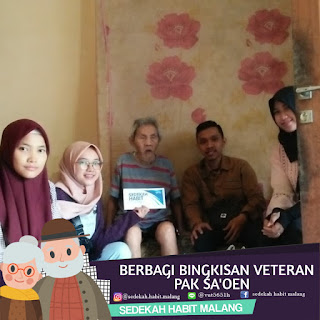 Mbah Sa'oen: Donasi Tunai & Bingkisan Veteran