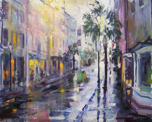 "Rick Reinert - ""studies In Sunlight And Rain"" ""charleston Downpour"" Rain Charleston Sc"