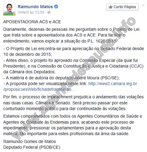 aposentadoria%2Bdos%2BACS%2Be%2BACE Deputado Raimundo Matos explica sobre a Aposentadoria dos ACS e ACE