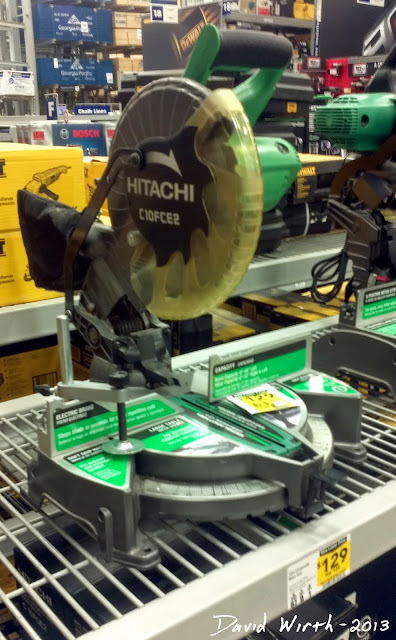 hitachi c10fce2 miter saw, price $130, lowes