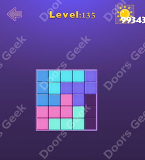 Cheats, Solutions, Walkthrough for Move Blocks Easy Level 135