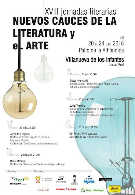 """XVIII JORNADAS LITERARIAS """"NUEVOS CAUCES DE LA LITERATURA Y EL ARTE"""""""