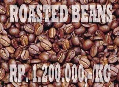 gambar roasted beans biji kopi luwak yang sudah dibakar 2016