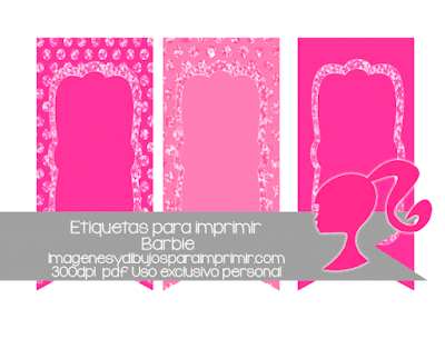 Etiquetas de barbie para imprimir