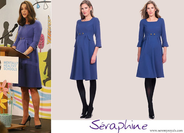Kate Middleton wore Seraphine Royal Blue Tailored Maternity Dress