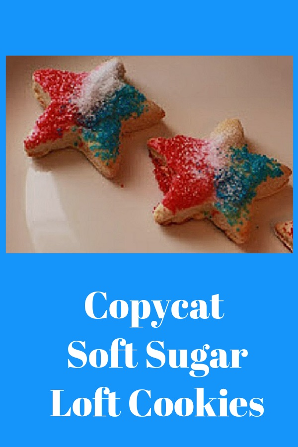 star shaped cookies for memorial day or 4th of july this are a soft sugar cookie that is a copycat of supermarket loft cookies