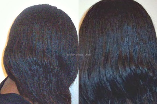 See the results from air drying my relaxed hair at 6.5 weeks relaxer touch up, | arelaxedgal.com