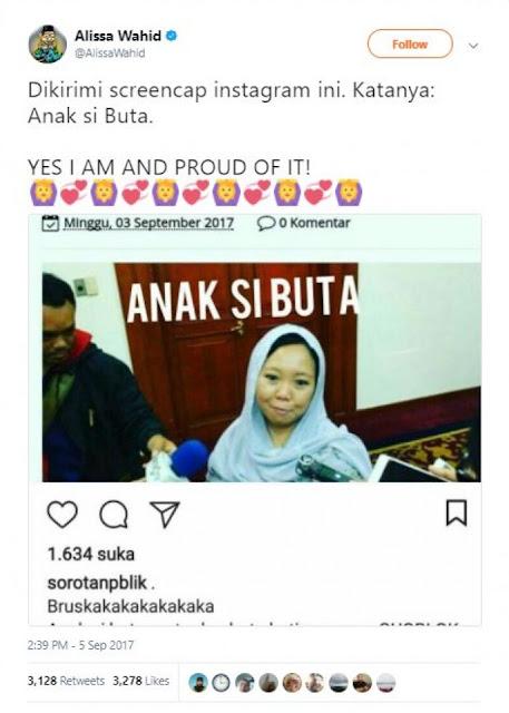 Ketika Putri Gusdur Alissa Wahid di Hina, Jawabannya Bikin Haru Netizen