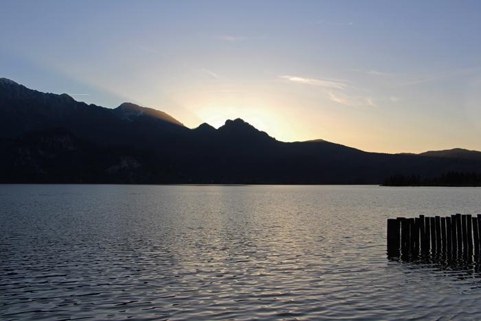 Sonnenuntergang am Kochelsee