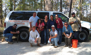 A group from SHSU recently assisted the Montgomery County Sheriff's Office in Sam Houston State Forest in a search for human remains.