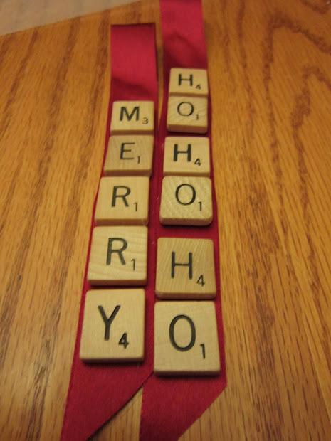 Sarah Jane' Craft Scrabble Tile Ribbon Ornaments