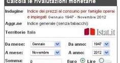 Infocasa istat rivaluta for Calcolo istat