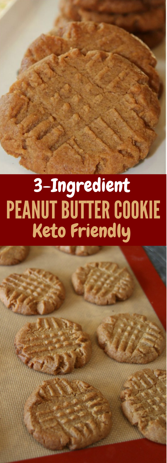 3 Ingredient Keto Peanut Butter Cookies Recipe #HealthyFood #Diet