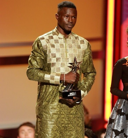 """""""Malian Spiderman"""" who scaled building to save child in France honoured at BET Awards (Photos)"""