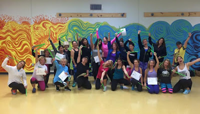 group exercise fitness class POUND instructor training drumming