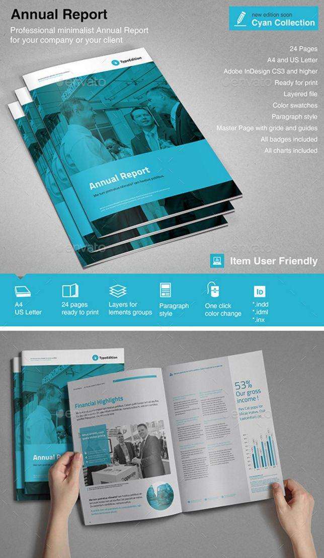 Annual Report Template By TypoEdition  Annual Reports Templates