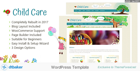 Child Care Creative v3.0.6 WordPress Theme Free Download